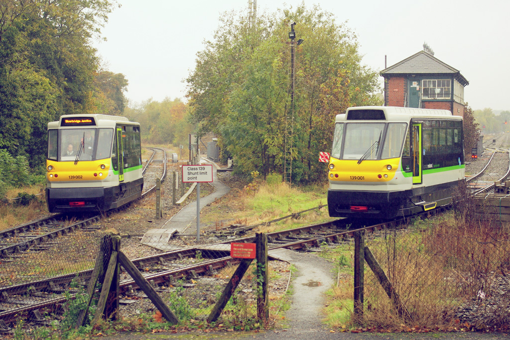 Nos139001 and 139002 at Stourbridge Junction
