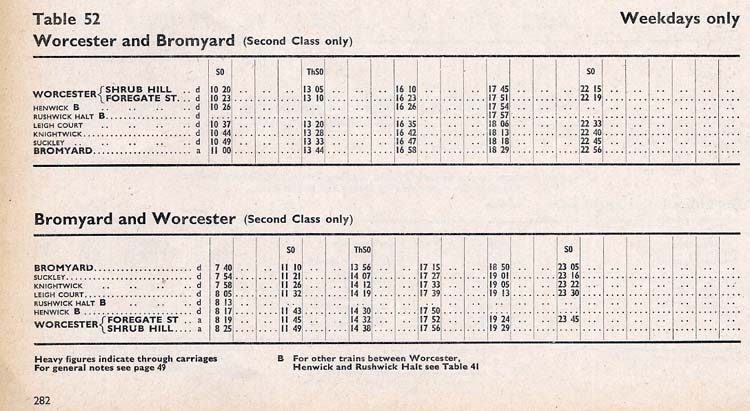 1964 timetable