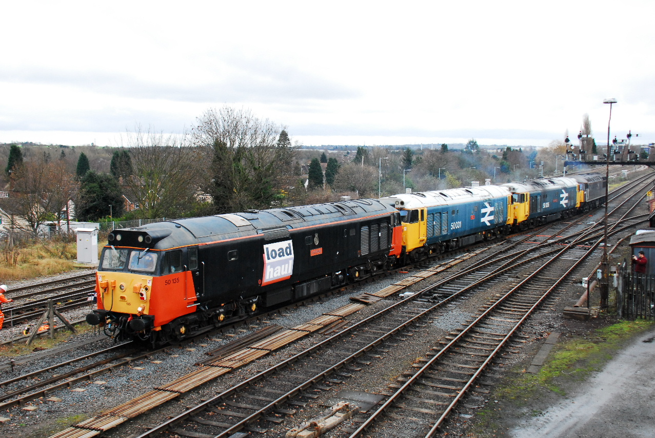 Class 50s at Kidderminster