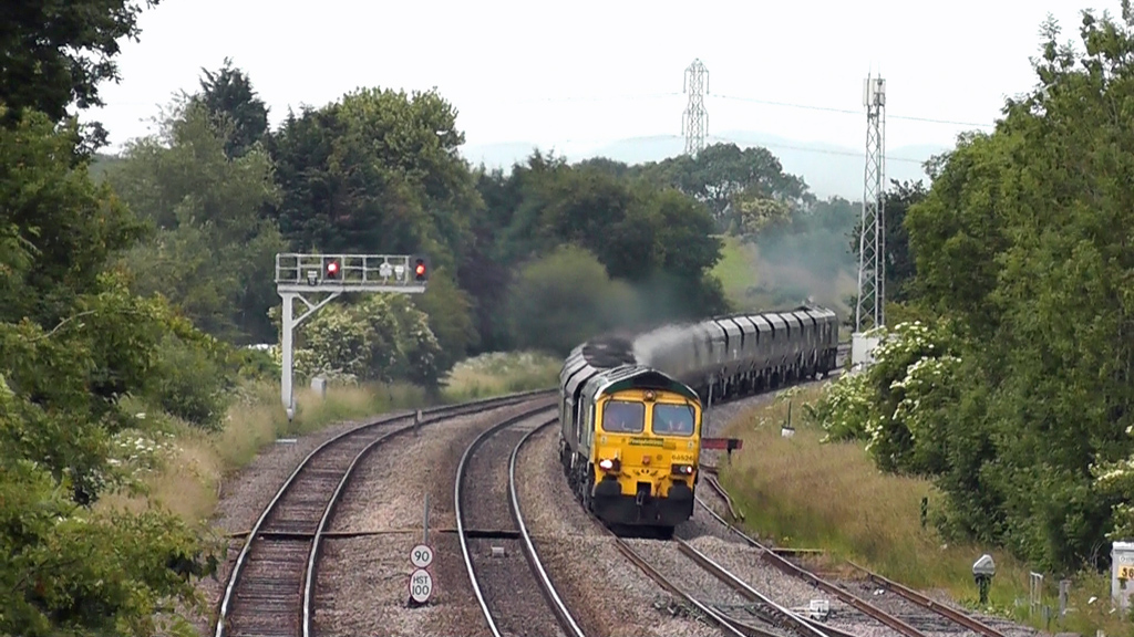 Class 66 freight train at Bromsgrove