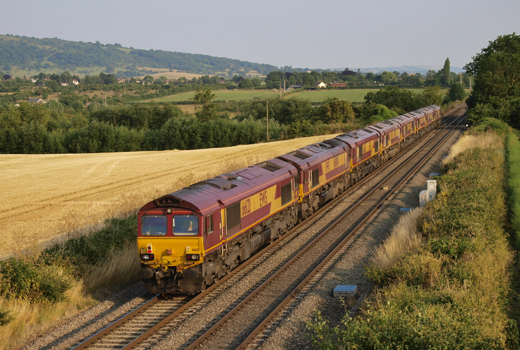Convoy of class 66 diesel locomotives