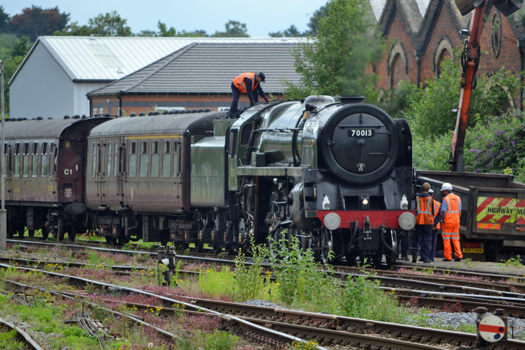 No.70013 Oliver Cromwell at Worcester