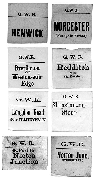 GWR Luggage Labels
