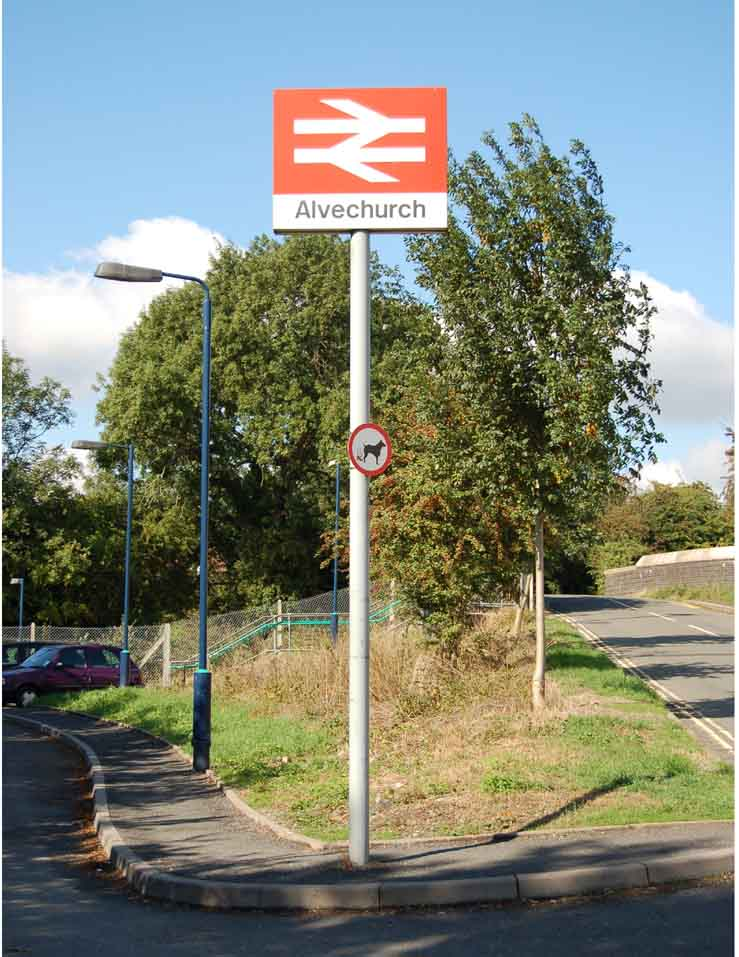Alvechurch Station Sign