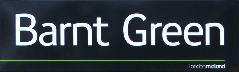 Barnt Green Station sign