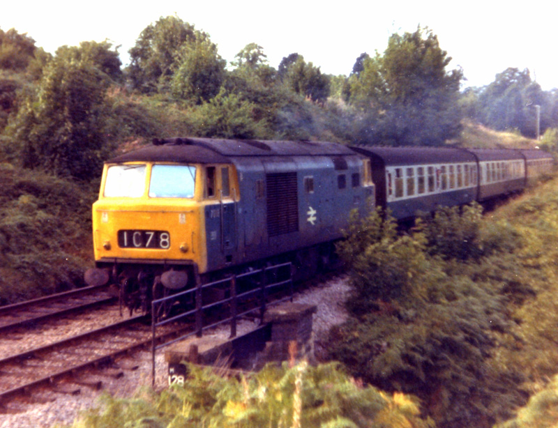 Hymek D7026 at Malvern in 1973