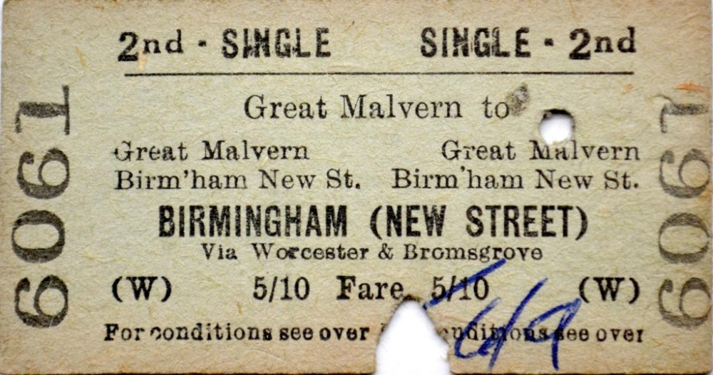 Ticket - 11th May 1960