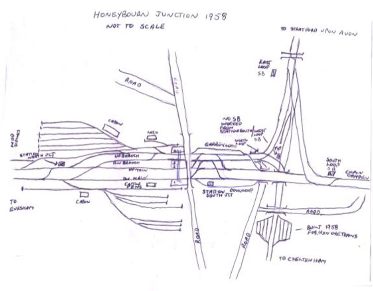 Honeybourne map