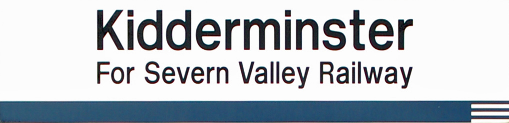 Kidderminster Station Sign