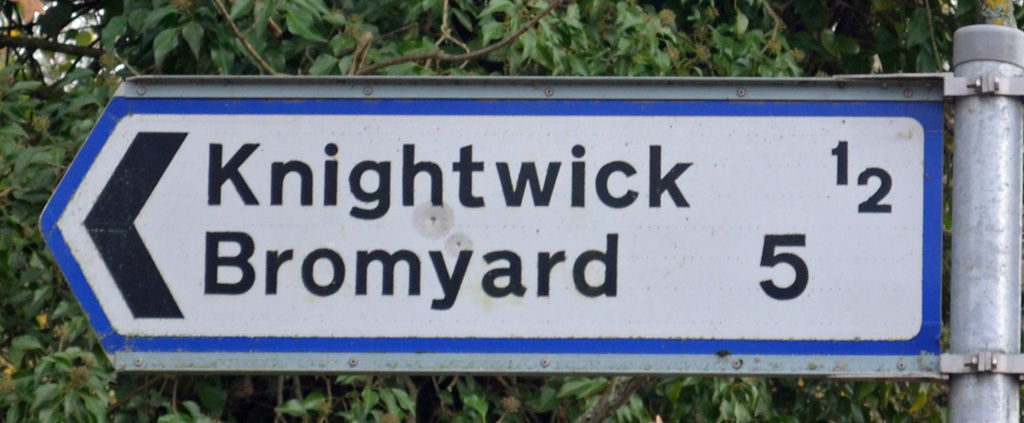Knightwick Sign