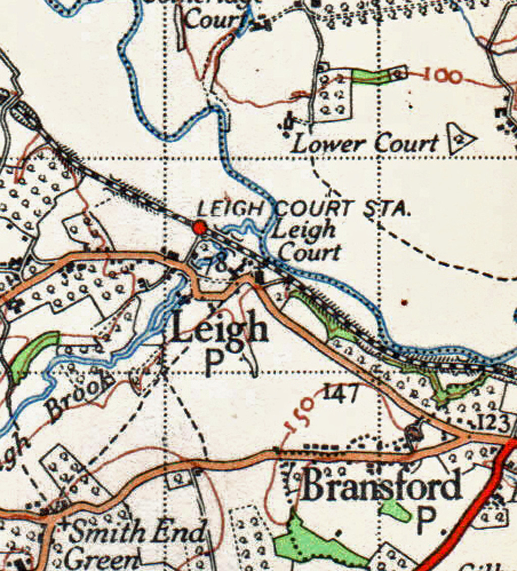 Leigh Court Station map c1930