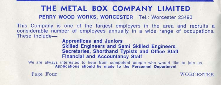 Metal Box Advert