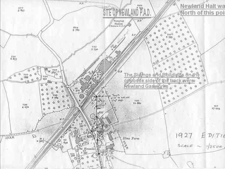 1927 map of Newland