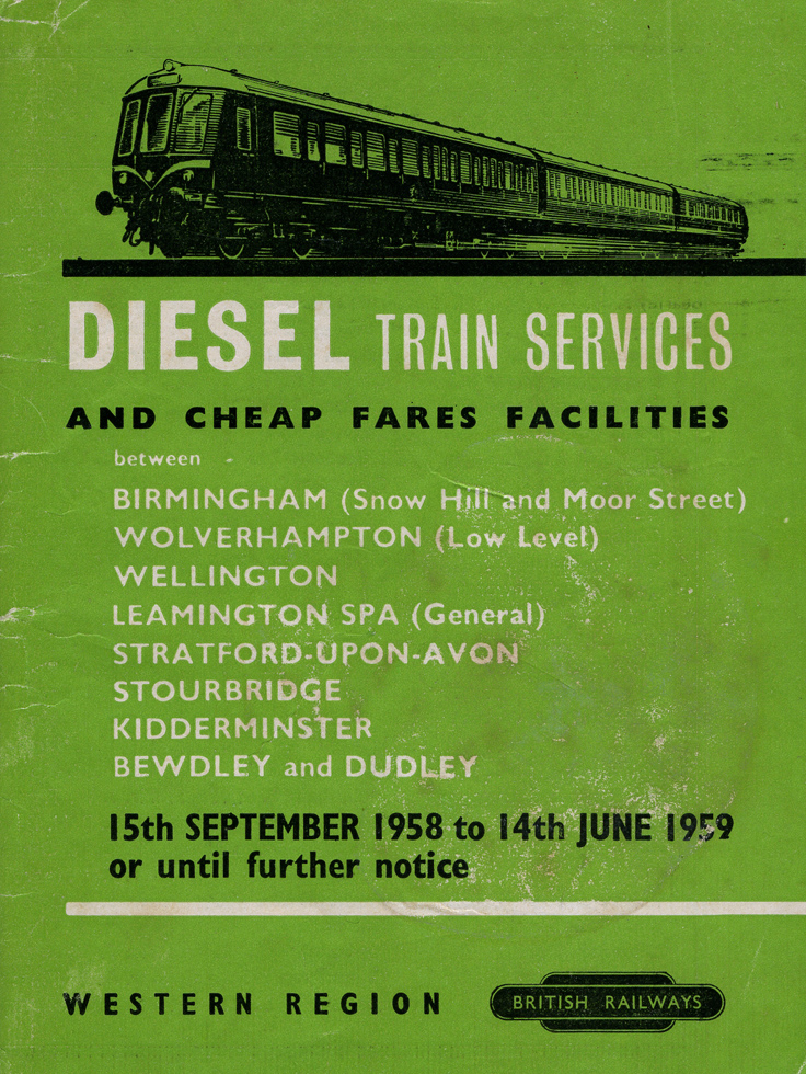 1958-9 timetable