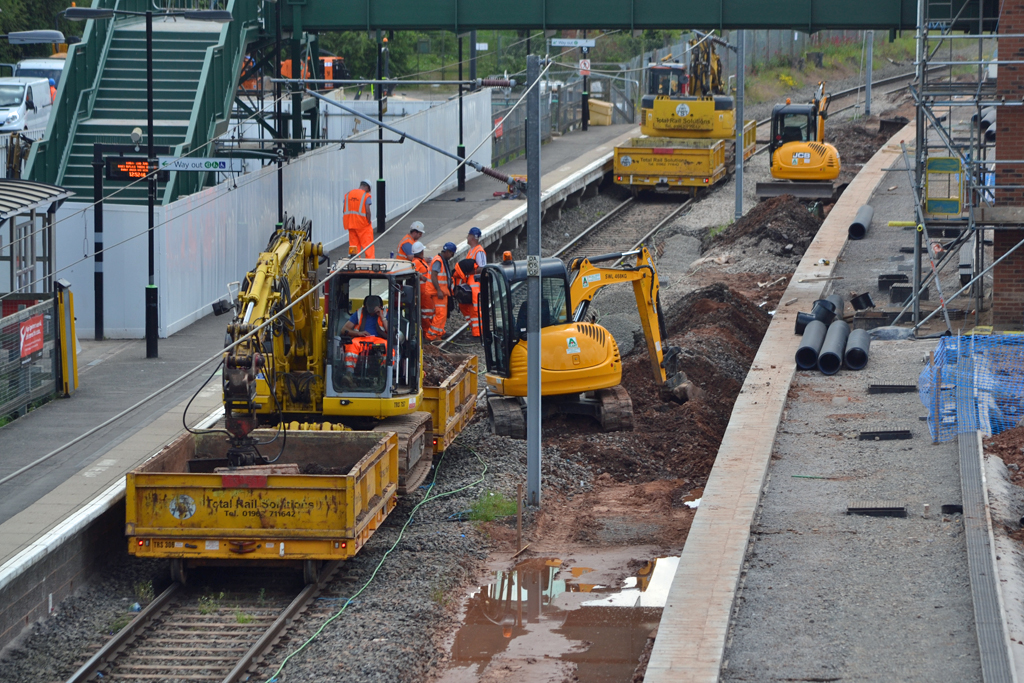 Alvechurch new station work