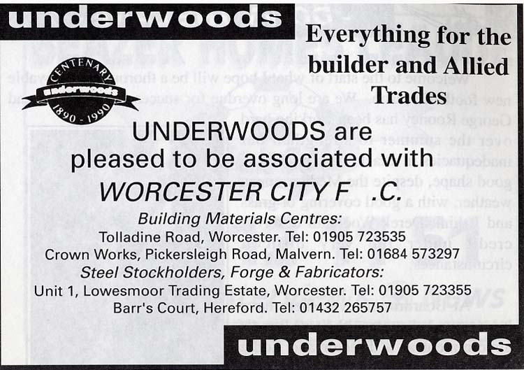 Advert for Underwoods
