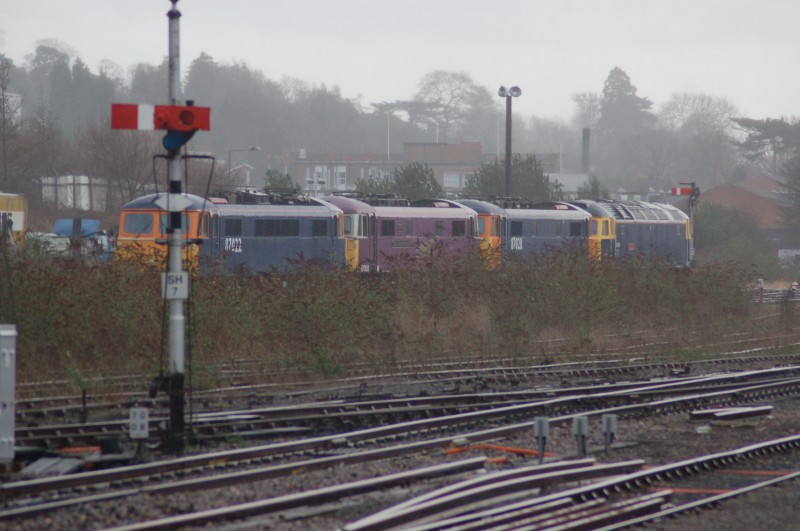 Class 87's at Worcester