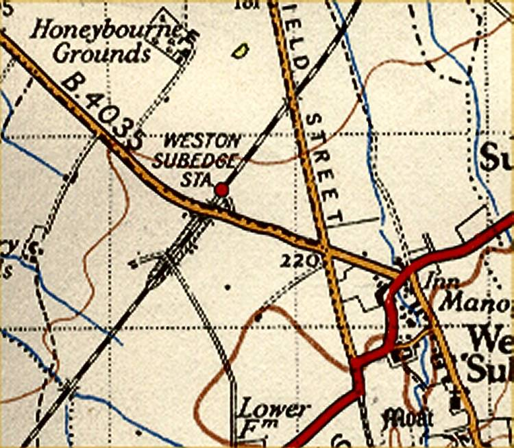 Weston Sub edge OS map (1930)